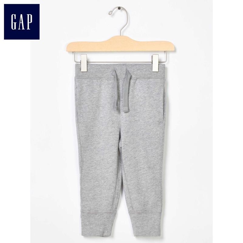 Gap  款素色長褲logo 徽標款式灰
