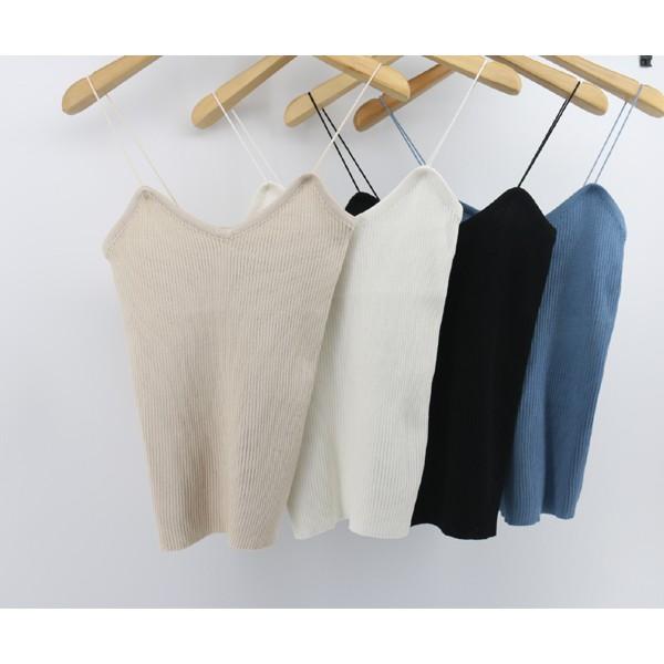 FS 直銷質量款針織v 領細肩帶性感吊帶背心6 色特批