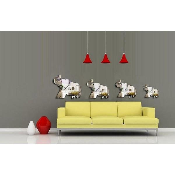 小象亞洲象大象立體鏡面貼立體貼立體牆貼壁貼牆貼家居裝飾開店裝潢佈置教室佈置~BYA32 ~