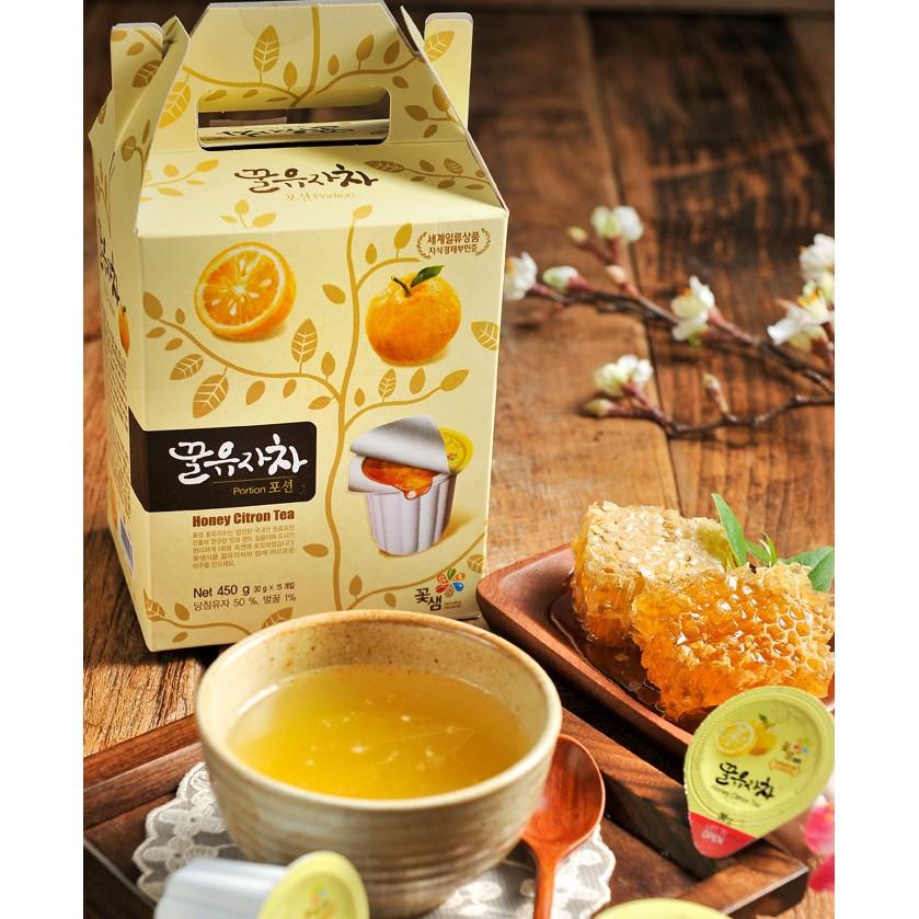 韓國超 蜂蜜柚子茶紅棗茶生薑茶葡萄柚膠囊式茶球30gx15 入