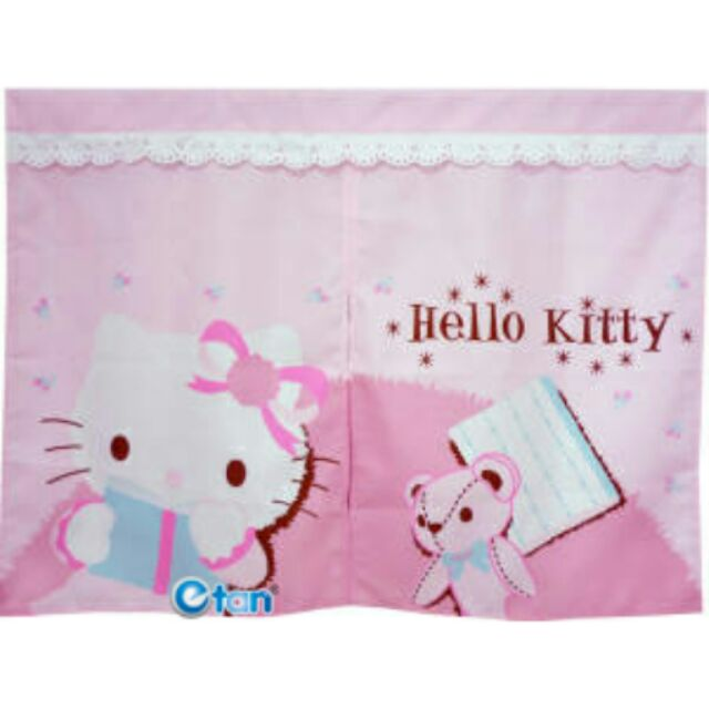 芊金小坊Hello Kitty 抱熊短門簾
