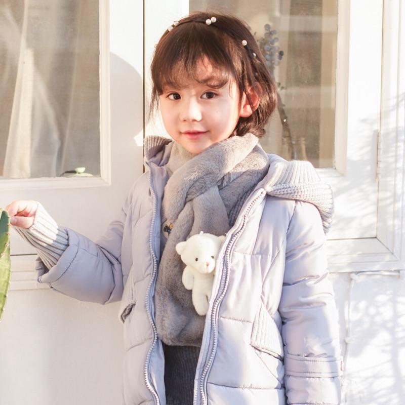 兒童圍巾秋 韓國 男童女童小孩寶寶嬰兒仿兔毛圍脖套頭保暖