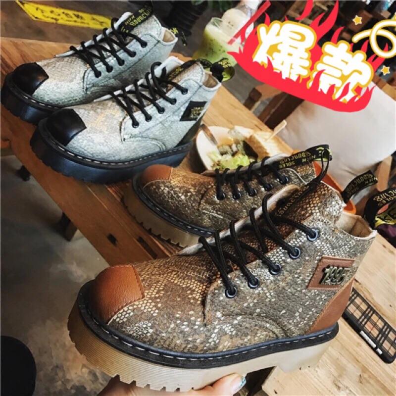 復古英倫風厚底馬丁靴騎士靴短靴粗跟靴厚底靴高跟鞋綁帶厚底靴繫帶短跟潘朵拉日韓