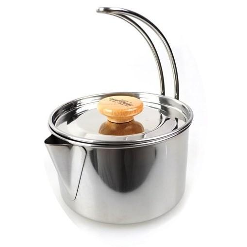 小浣熊CAMP LAND RV ST250 不鏽鋼燒水壺茶鍋折疊鍋煮咖啡泡麵湯鍋水壺可加購