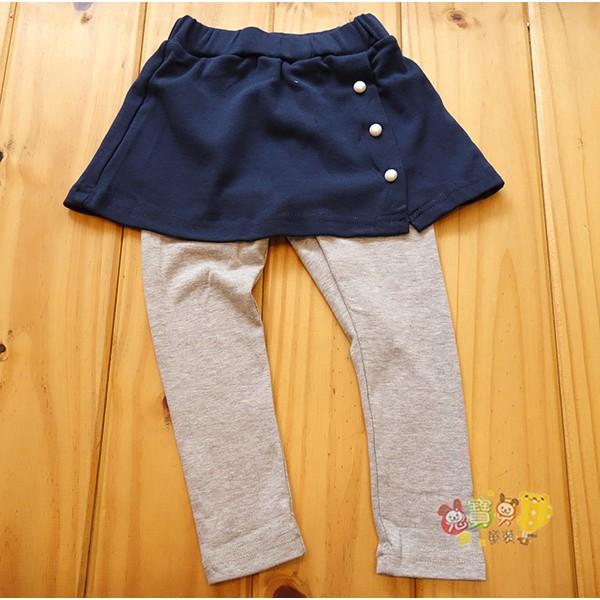 13201 藍色裙褲珍珠棉質褲裙內搭褲5 15 號中小童