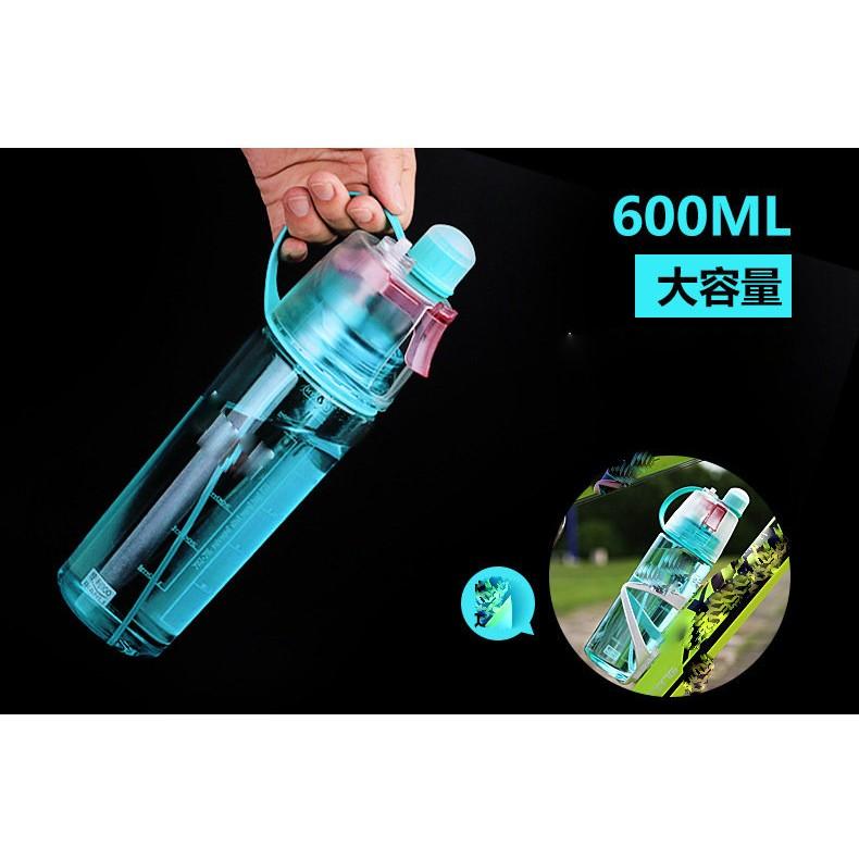 ~夜市王~600ml 水壺補水保濕噴水塑膠隨手杯噴霧水杯139 元