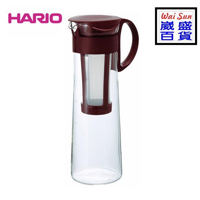 ~崴盛 ~ 製HARIO 玻璃冷泡冰釀咖啡壺1000ml 咖啡色MCPN 14