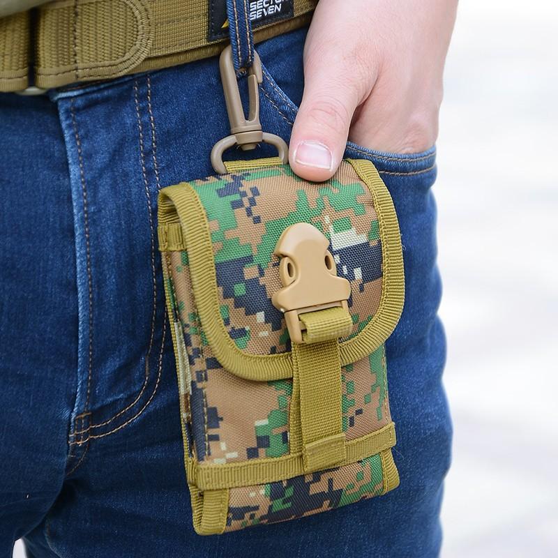 戶外 跑步腰包男軍迷戰術腰包多 騎行掛包皮帶5 5 寸手機包