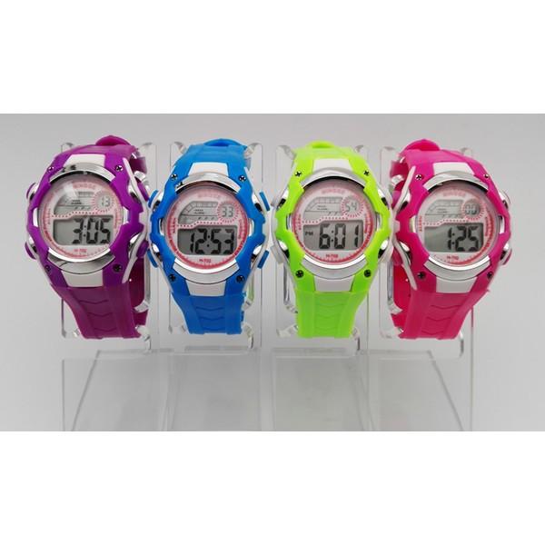 全防水兒童電子錶2016 款男女學生七彩夜光户外兒童手錶可愛兒童全防水手錶兒童可愛電子手錶