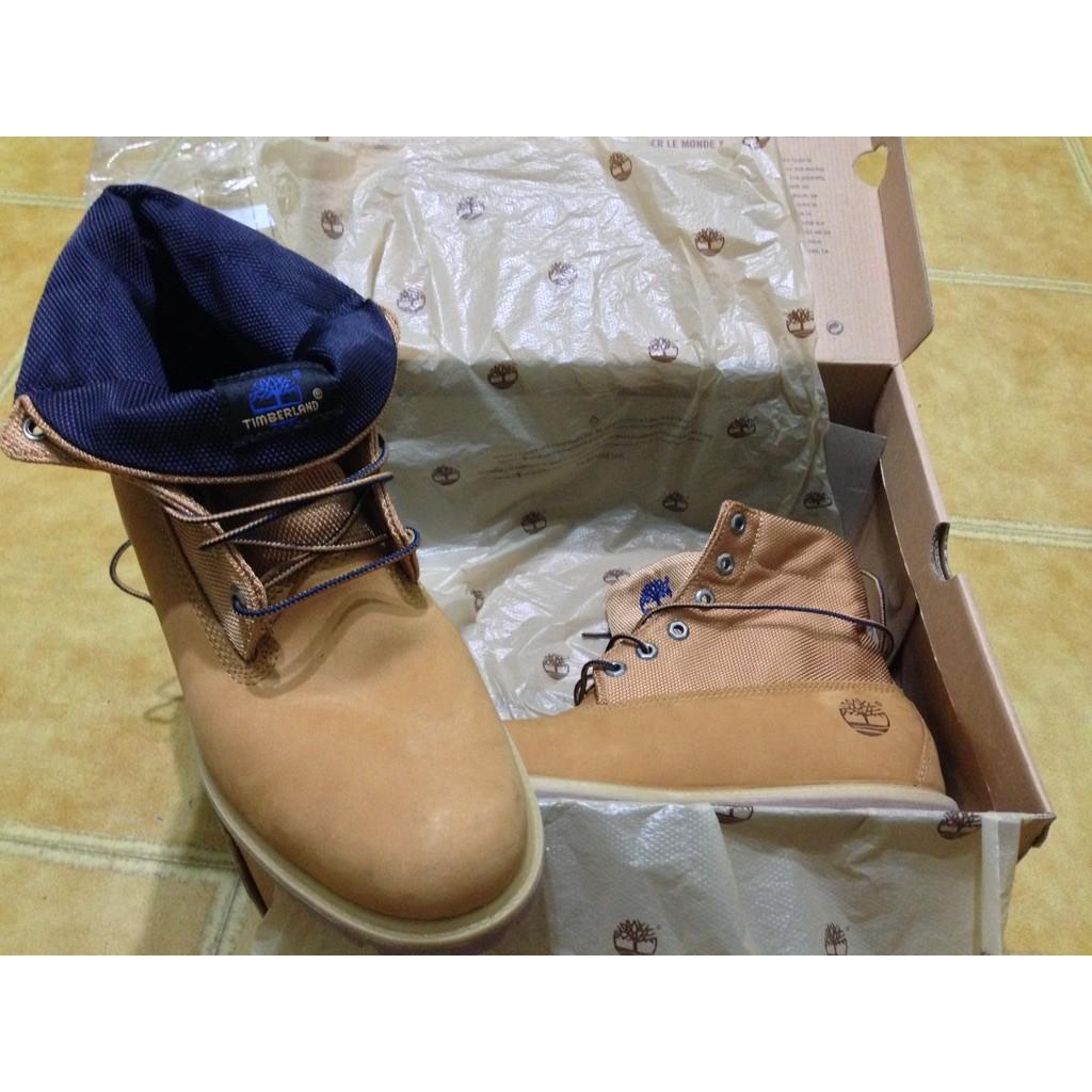 Timberland 男款小麥黃繡紋印花高筒反折靴 - US 10.5