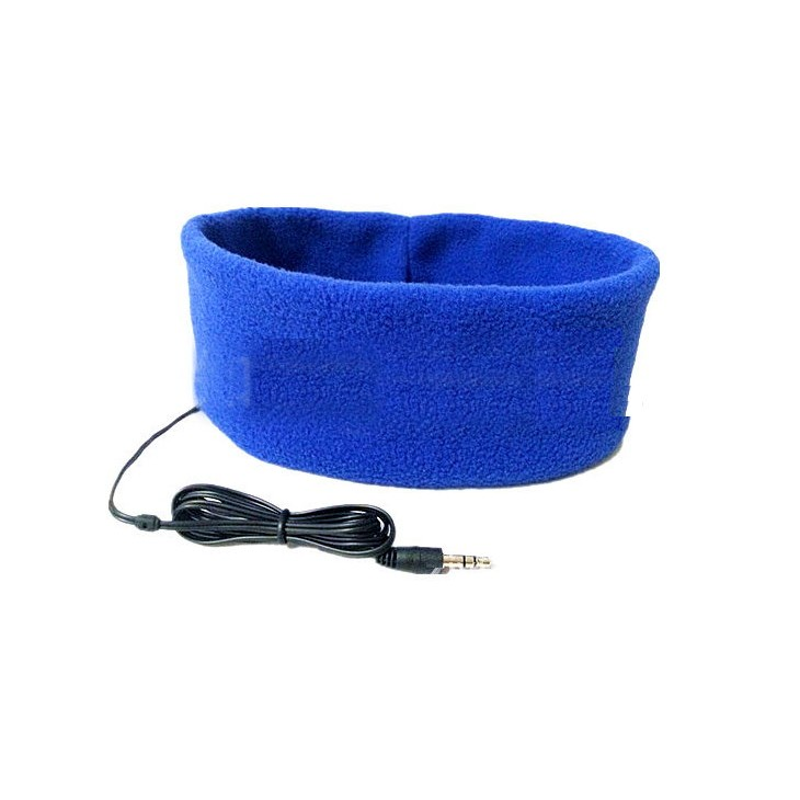 睡眠耳機頭帶睡眠耳機跑步騎行 耳機眼罩頭套非藍牙耳機行動電源