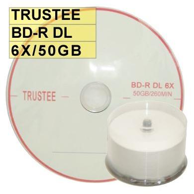 ~ 、錸德A 級~Trustee LOGO BD R DL 6X 50G 藍光片燒錄片藍光