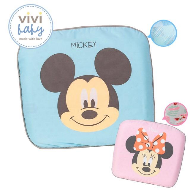 ~嬰兒寶~~附發票~迪士尼微笑米奇蝴蝶結米妮塑型枕雙布套藍粉
