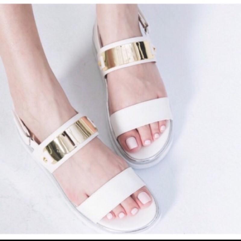 不必等超 MIT 款金屬面銀邊2 版魔鬼氈涼拖鞋
