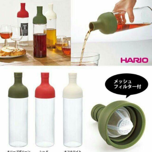 9 15 出貨 製HARIO 冷泡茶壺FIB 75 750ml 紅,深綠兩色