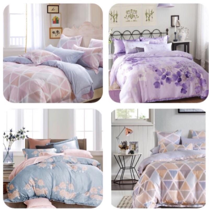 成媽100 天絲雙人加大特大舖棉床包舖棉枕頭套兩用被套組