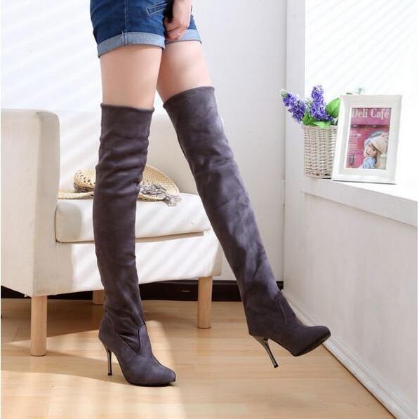 過膝靴正品尖頭女靴彈力超高跟磨砂高筒長靴大碼鞋子內增高單靴縷空網靴長筒靴中筒靴短靴休閒靴靴
