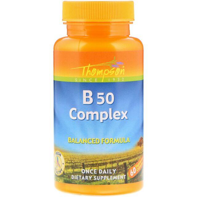 Thompson B群(B50) 60顆膠囊 維生素b 維他命b一