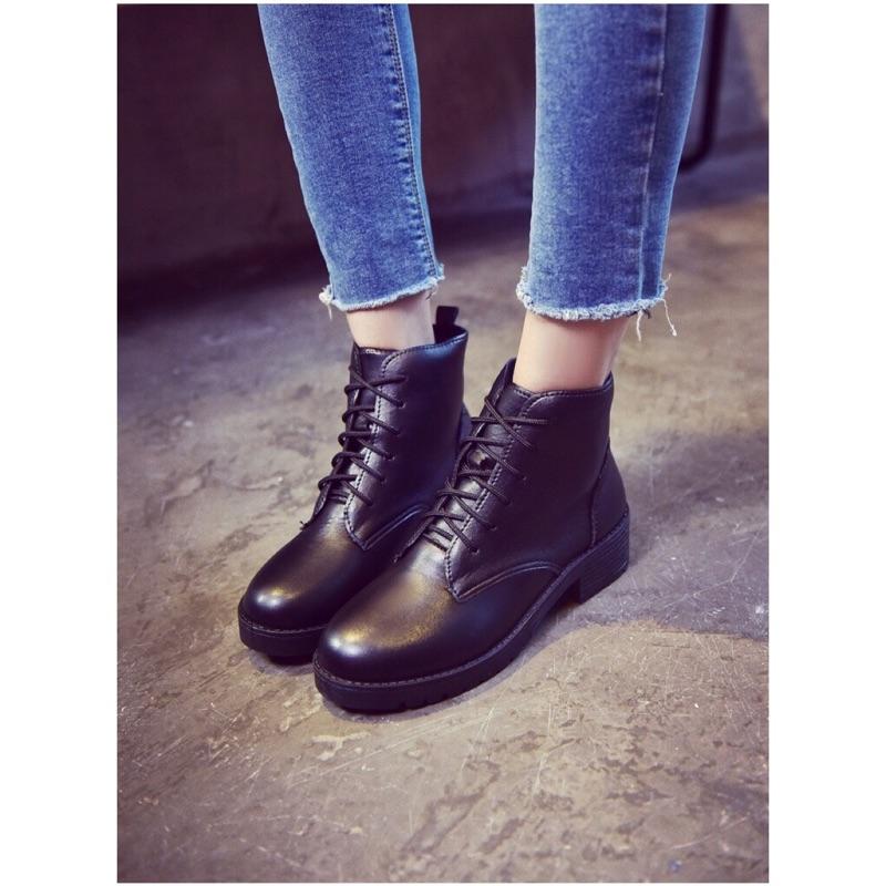 五折 ✨ 馬丁靴英倫風短靴粗跟皮靴踝靴女鞋