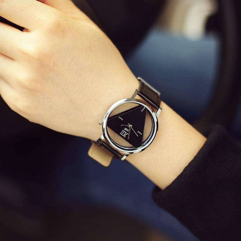 原宿風明星同款手表韓國潮流 鏤空簡約潮男女表中學生情侶一對