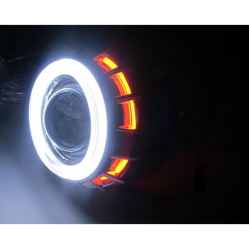 魚眼大燈HID 遠近光一體偉士通魚眼大燈天使惡魔終極精工魚眼BWS CUXI RC 勁戰