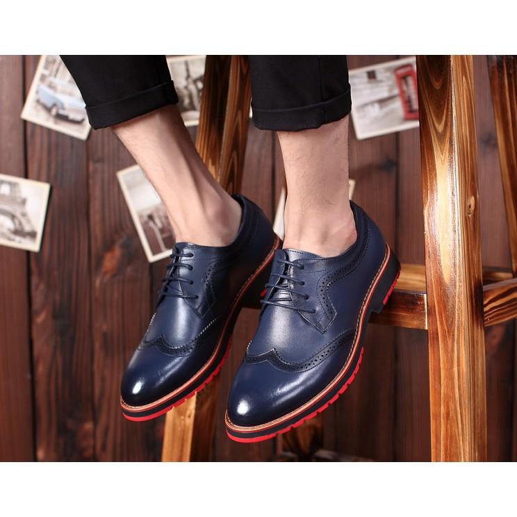 真皮牛津鞋/布洛克雕花男鞋/英倫複古男士牛津鞋/商務正裝巴洛克真皮皮鞋