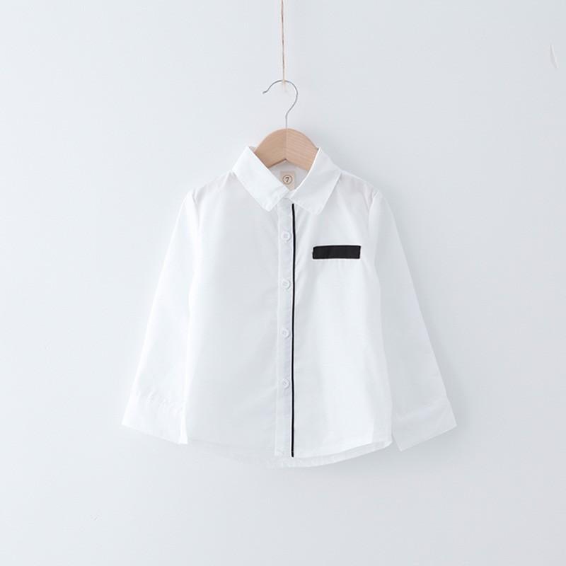 2016  男童男寶寶簡約日系百搭白襯衫 加