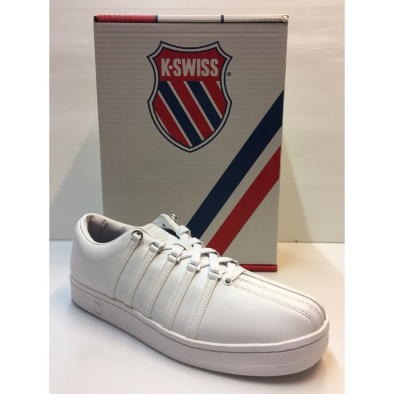 K SWISS 男休閒鞋 款 款全白CLASSIC 88 白色學生鞋02248 101
