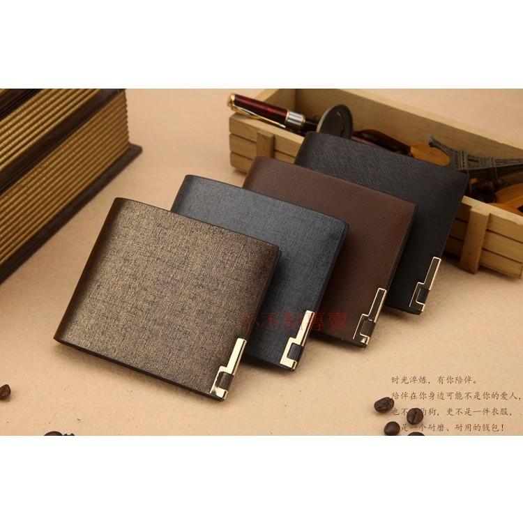 (小不點專賣R6 )錢包男士短款復古 商務潮卡包超薄横豎款日韓正品青年學生皮夾