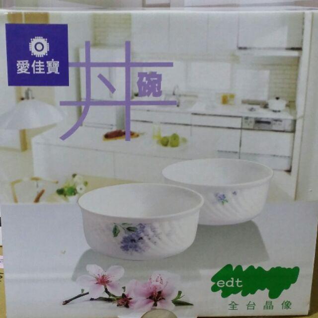 愛佳寶強化玻璃丼蓋碗組一入組微波爐 大容量碗餐碗碗公湯碗含蓋保鮮碗保鮮盒