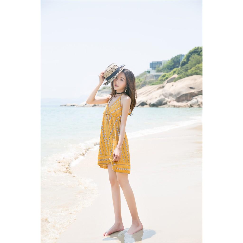 吊帶裙 沙灘度假修身氣質 連衣裙學生可愛氣質淑女學院風日系潮