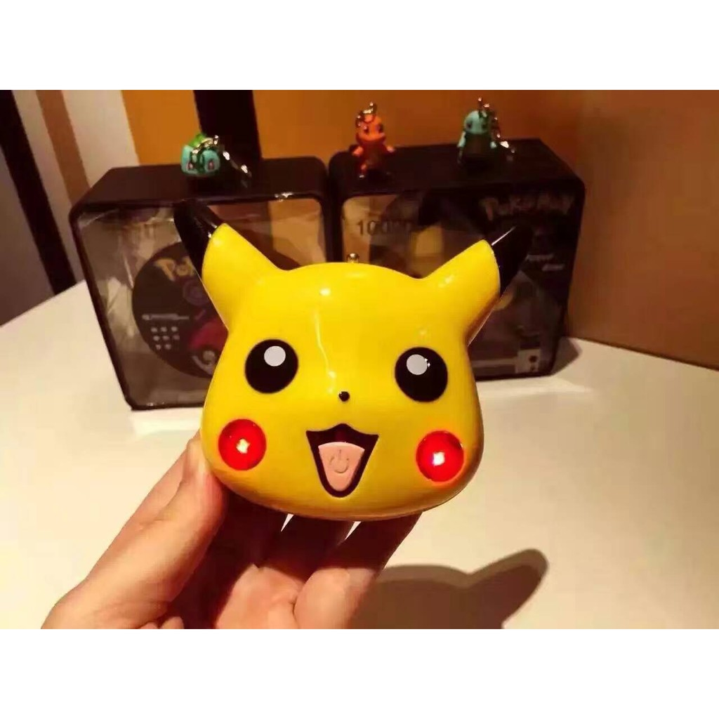 Pokemon Go 神奇寶貝寶可夢皮卡丘臉部 10000mAh 安卓Android 蘋果
