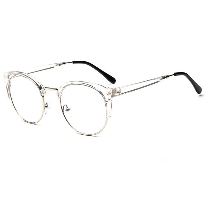 貓眼半框金屬邊眼鏡框復古男女框架眼鏡大框眼鏡