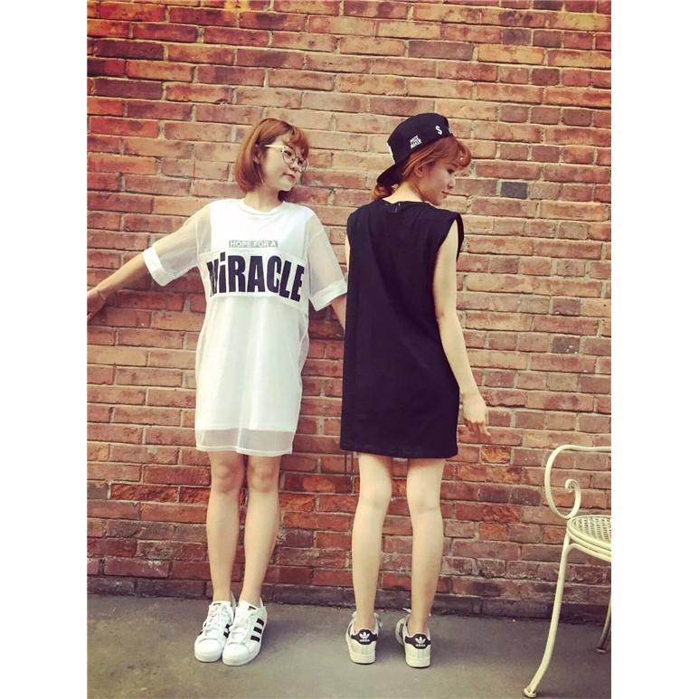 5528 大碼套裝 短袖T 恤網紗(XL 2XL 3XL 4XL 黑色白色自選)