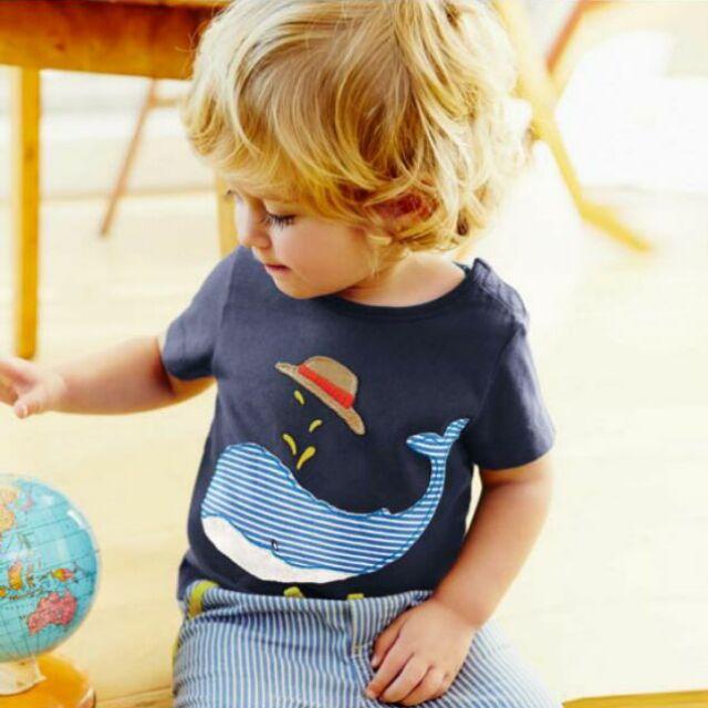 可愛鯨魚條紋褲套裝