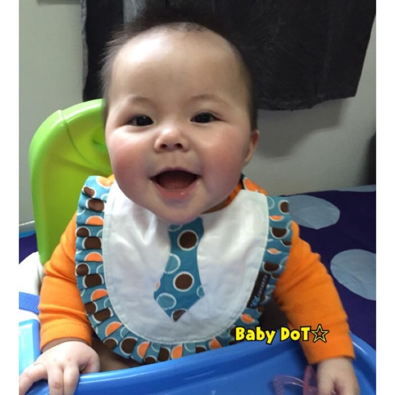✨卡特兔防水花邊口水巾有機棉兒童圍兜兜CRTARTU 甜甜價寶寶蝴蝶結領結領帶吃飯兜 圍巾