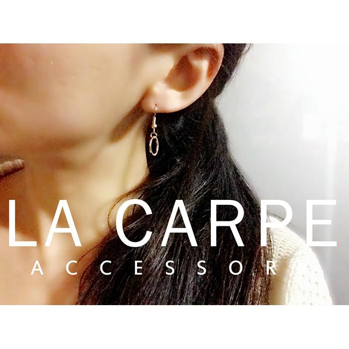 LaCarpe CHERYL 雪柔系列 銅質極簡圓圈耳環美式風格ASOS ~SZ031 ~
