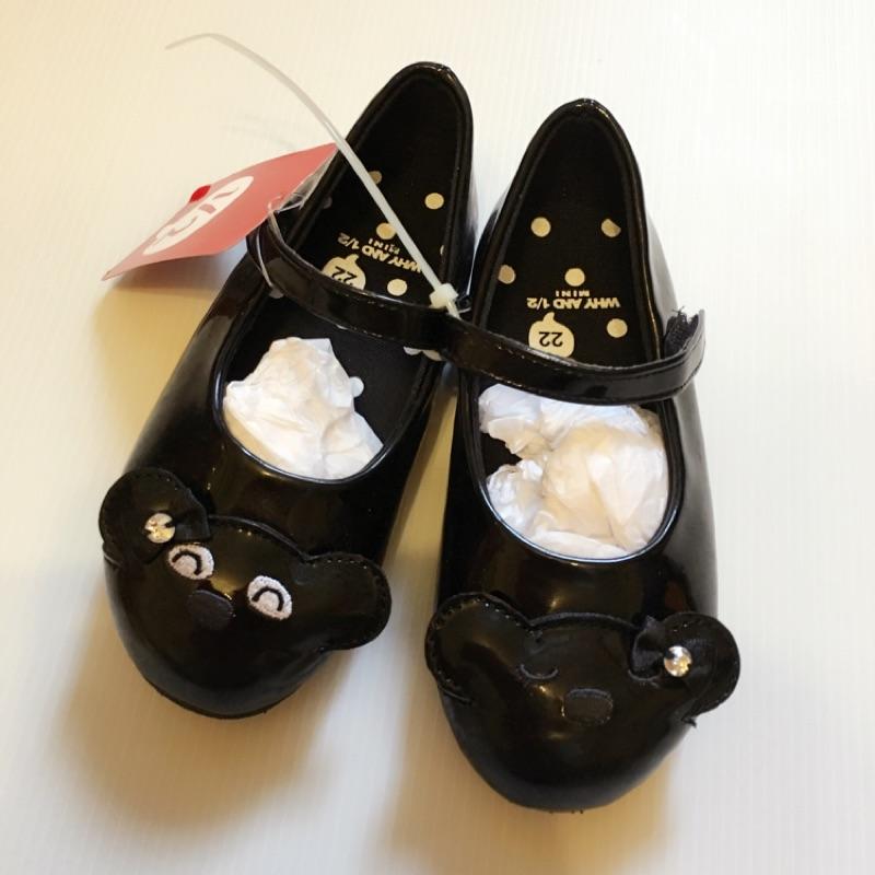 ~WHY AND 1 2 娃娃鞋黑色22 號鞋內長約15cm 0 5cm