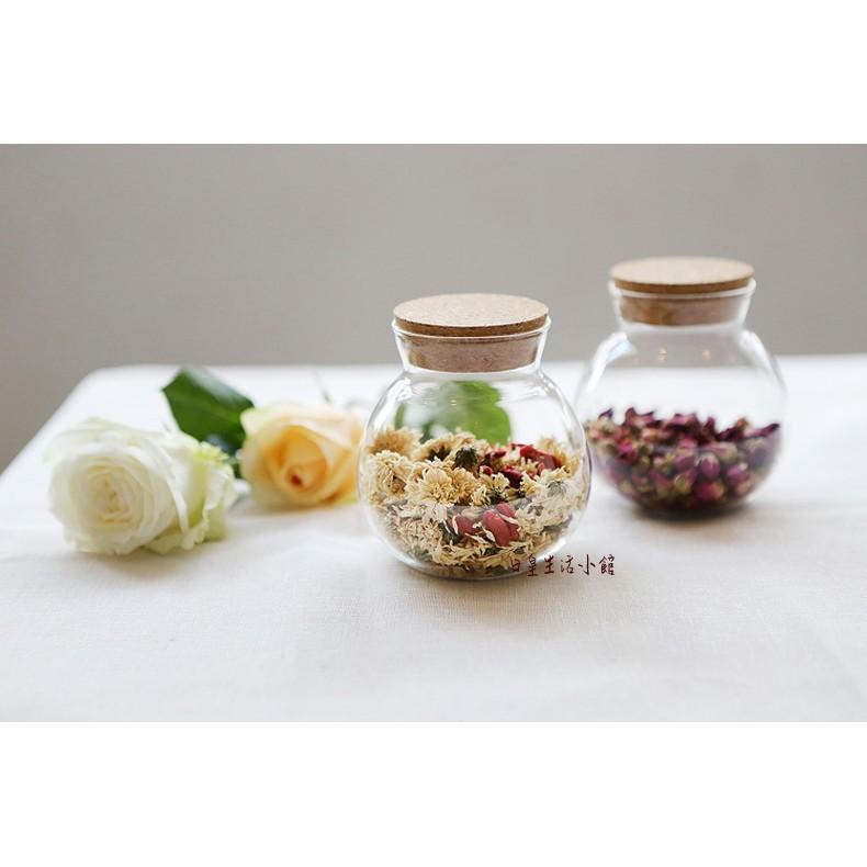 ~日皇二館~密封罐透明茶葉罐玻璃瓶儲物罐花茶罐軟木糖果罐耐熱玻璃茶具微景觀玻璃瓶