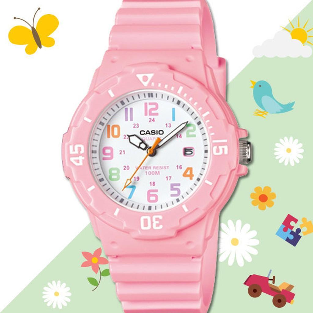 CASIO 手錶 國隆LRW 200H 4B2 兒童錶防水100 米膠質錶帶LRW 200