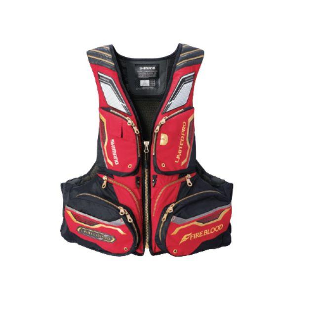 出清特惠 SHIMANO LIMITED PRO VF-113Q 紅色 救生衣 L/XL