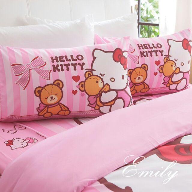 100  Kitty 床包組單人床包我愛麻吉熊n 床包組兩用被雙人床包