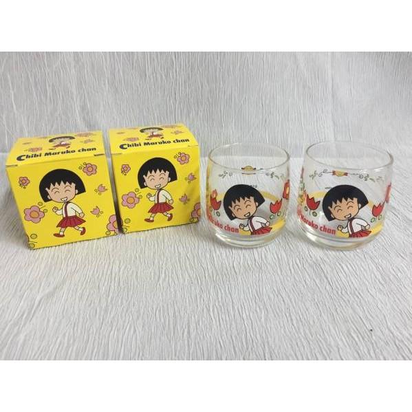 MARUKO1990  絕版櫻桃小丸子茶杯水杯杯子馬克杯玻璃杯美耐皿杯餐具