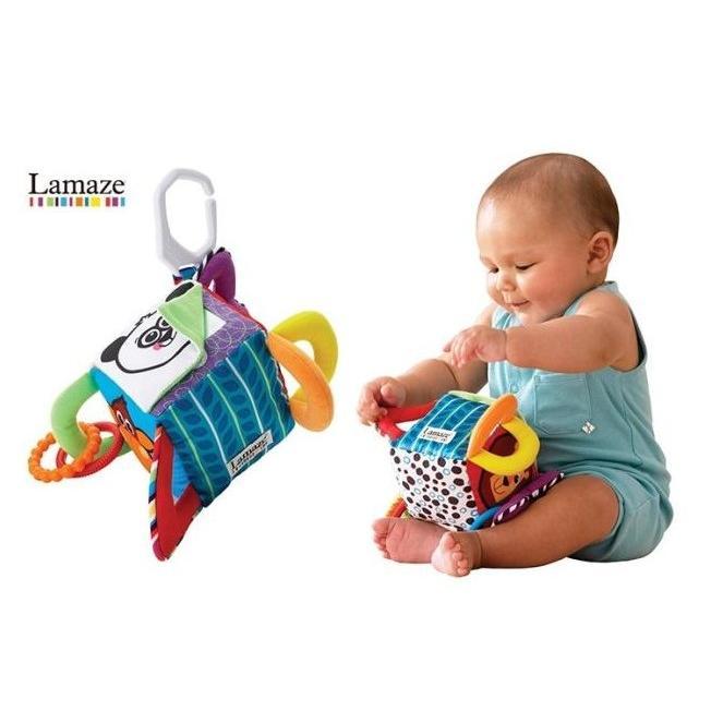 鎬媽布書布玩園多 小熊四方鈴鐺布積木車床掛嬰兒視覺益智獲獎玩具美國lamaze 拉梅茲同款