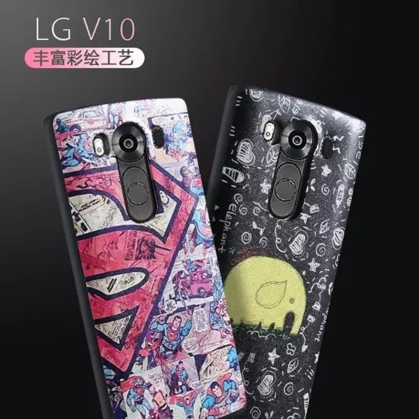 LG V10 手機殼卡通彩繪V10 矽膠套V10 蠶丝纹保護套LG V10 全包邊