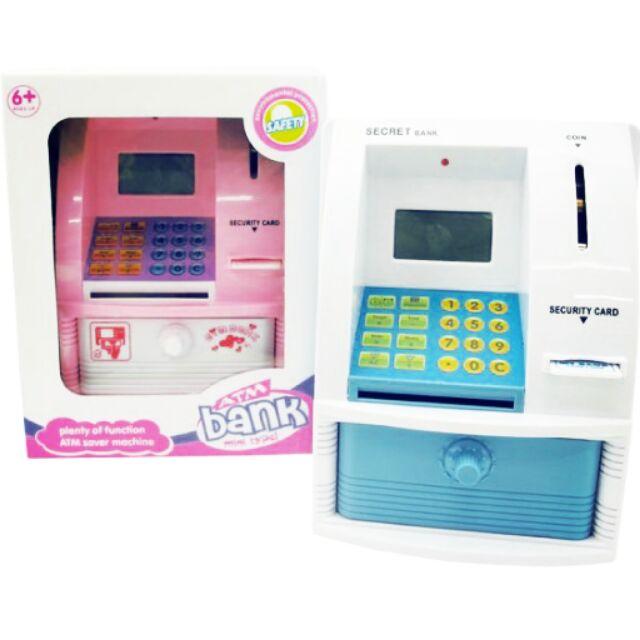 仿真ATM 存款機迷你ATM 兒童存錢筒ATM 提款機儲蓄存錢幼兒益智玩具