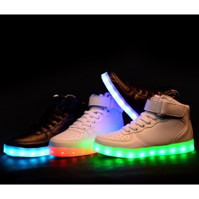 奧運發光鞋 鞋USB 充電LED 情侶鞋發光鞋高幫板鞋