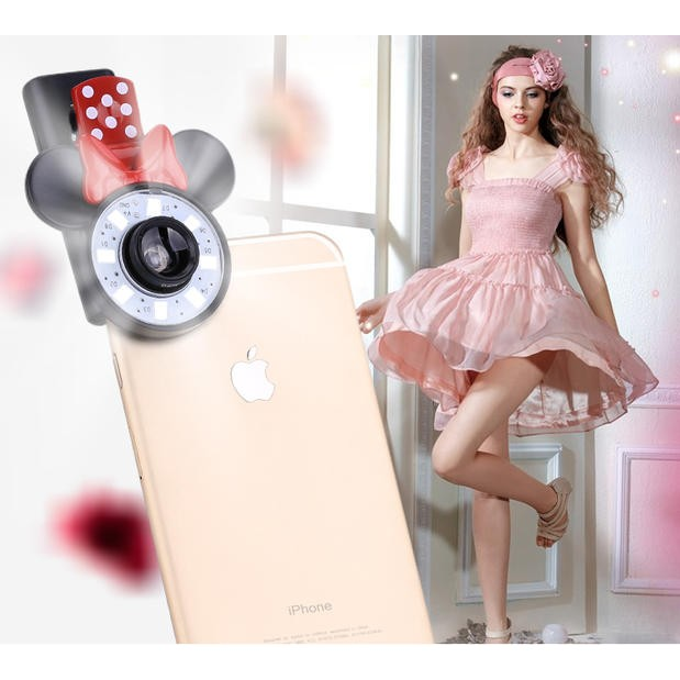 米妮款 補光廣角美顏手機美肌補光燈 神器廣角鏡頭夾iPhone 三星Htc 華索尼