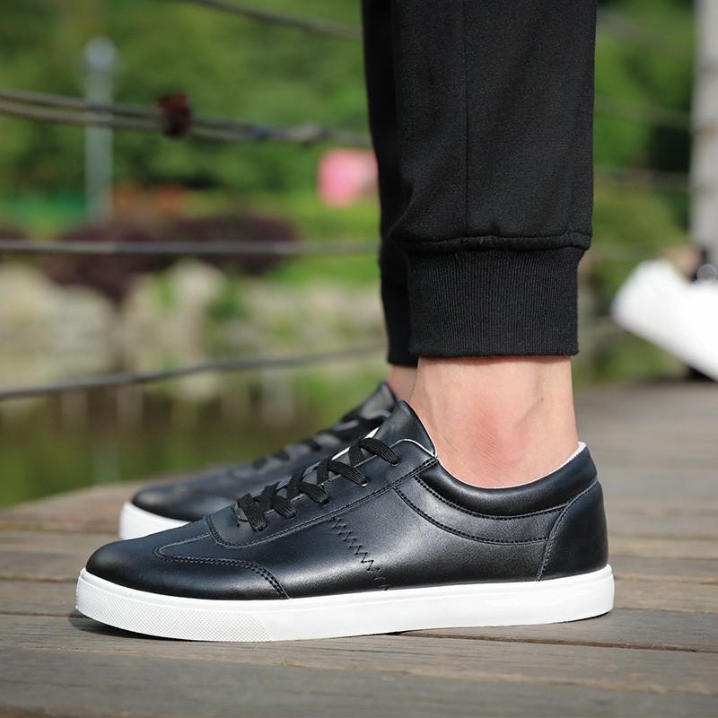 板鞋男士 休閒男鞋 潮流小白鞋透氣平底貝殼頭夏天潮鞋