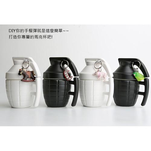 杯子茶杯咖啡杯手雷馬克杯 手雷馬克杯手榴彈炸彈陶瓷咖啡杯子3D 立體陶瓷杯帶杯蓋